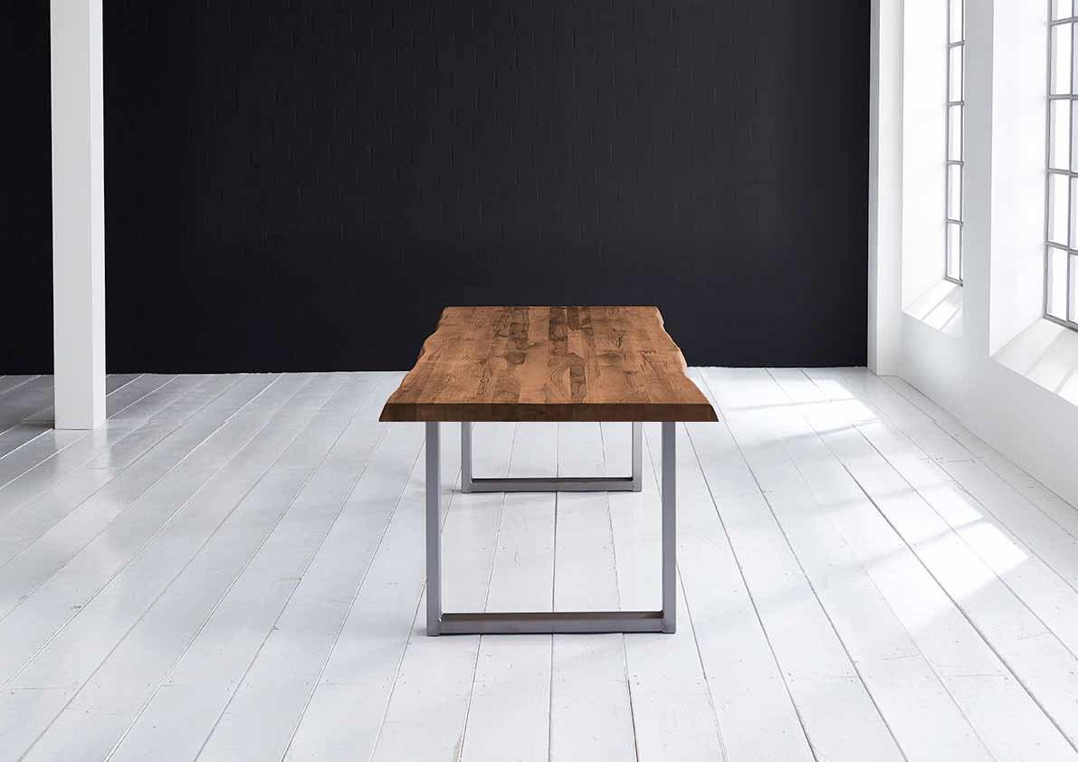 Concept 4 You plankebord - eg, m. barkkant og Manhattan ben, m. udtræk (180-260x100) 6 cm 200 x 100 cm 06 = old bassano