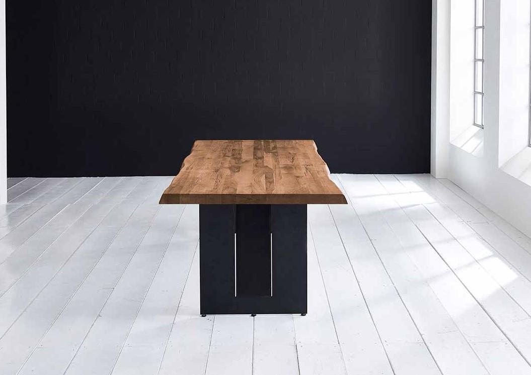 Concept 4 You Plankebord - Barkkant Eg med Steven ben, m. udtræk 6 cm 280 x 100 cm 01 = olie