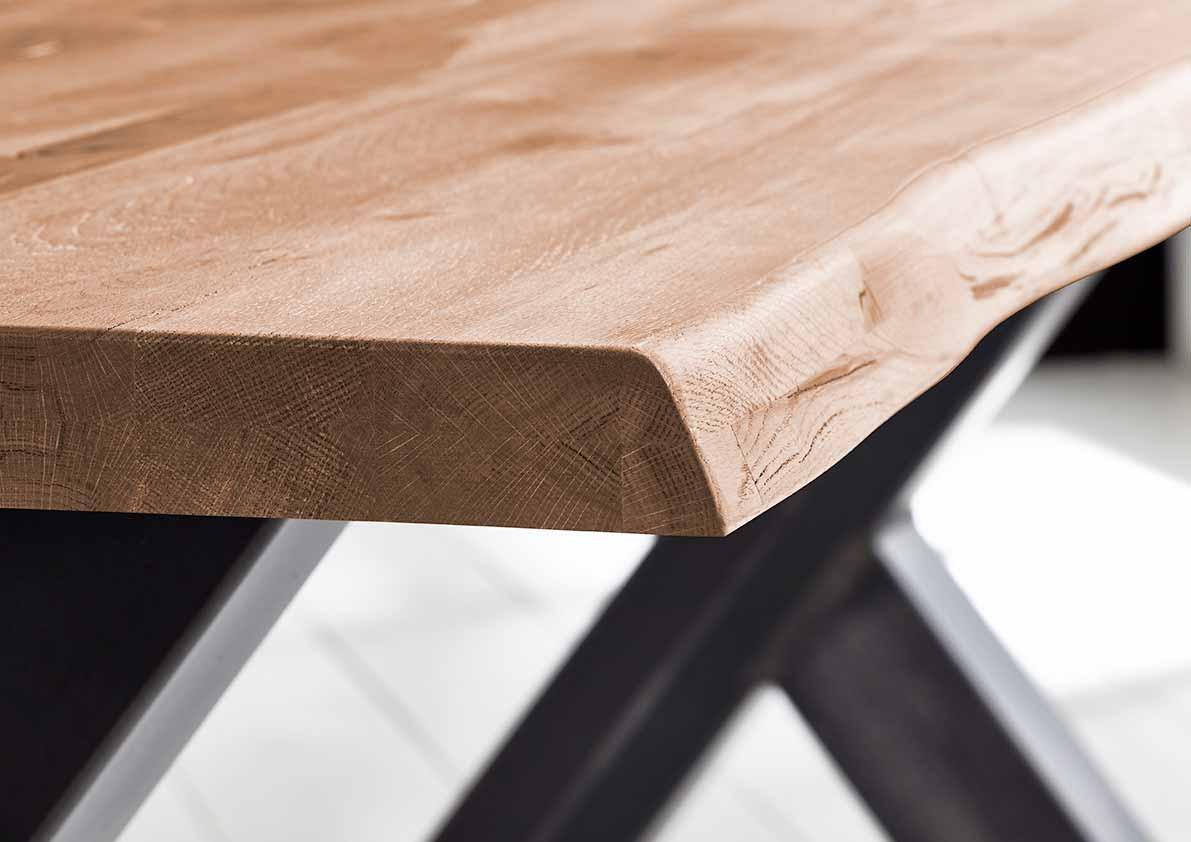 bodahl – Concept 4 you plankebord - barkkant eg med manhattan ben, m. udtræk 6 cm 280 x 110 cm 03 = white wash på boboonline.dk