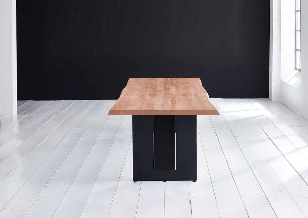 Concept 4 You Plankebord - Barkkant Eg med Steven ben, m. udtræk 6 cm 220 x 110 cm 03 = white wash