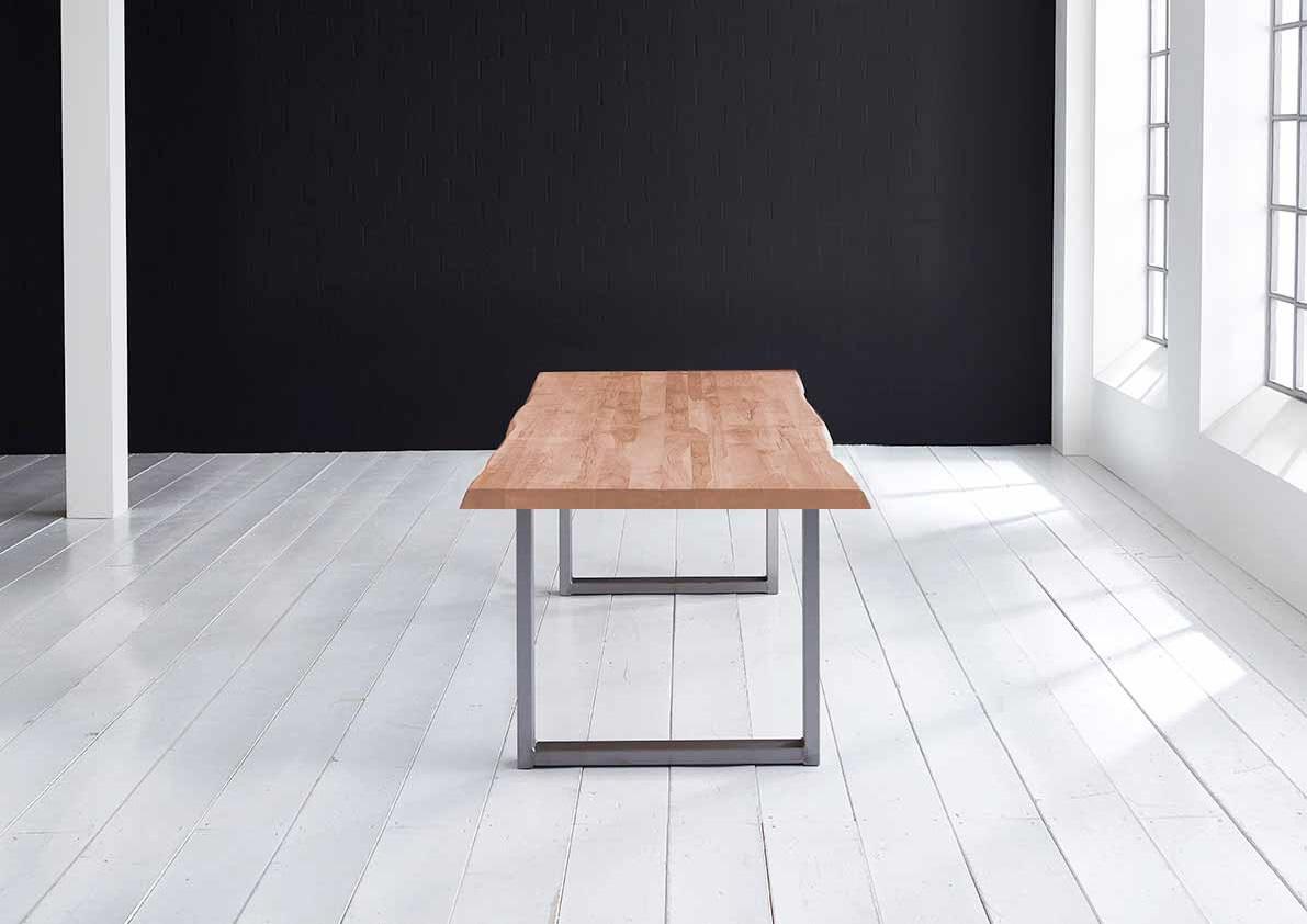 Concept 4 You Plankebord - Barkkant Eg med Manhattan ben, m. udtræk 6 cm 300 x 110 cm. 03 = white wash