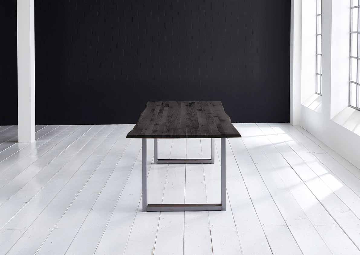 bodahl – Concept 4 you plankebord - eg, m. barkkant og manhattan ben, m. udtræk (180-260x100) 3 cm 220 x 100 cm 07 = mocca black på boboonline.dk