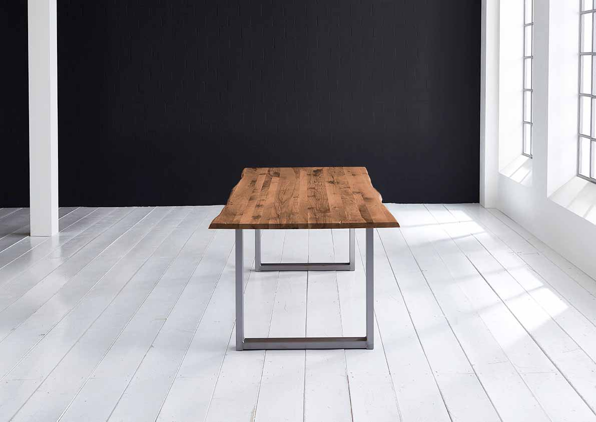 Concept 4 You plankebord - eg, m. barkkant og Manhattan ben, m. udtræk (180-260x100) 3 cm 260 x 100 cm 06 = old bassano