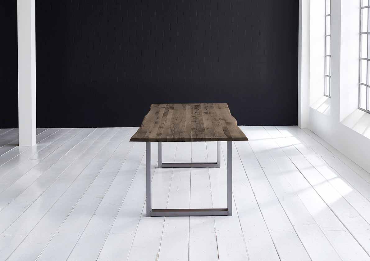 Concept 4 You Plankebord - Barkkant Eg med Manhattan ben, m. udtræk 3 cm 220 x 100 cm 02 = smoked