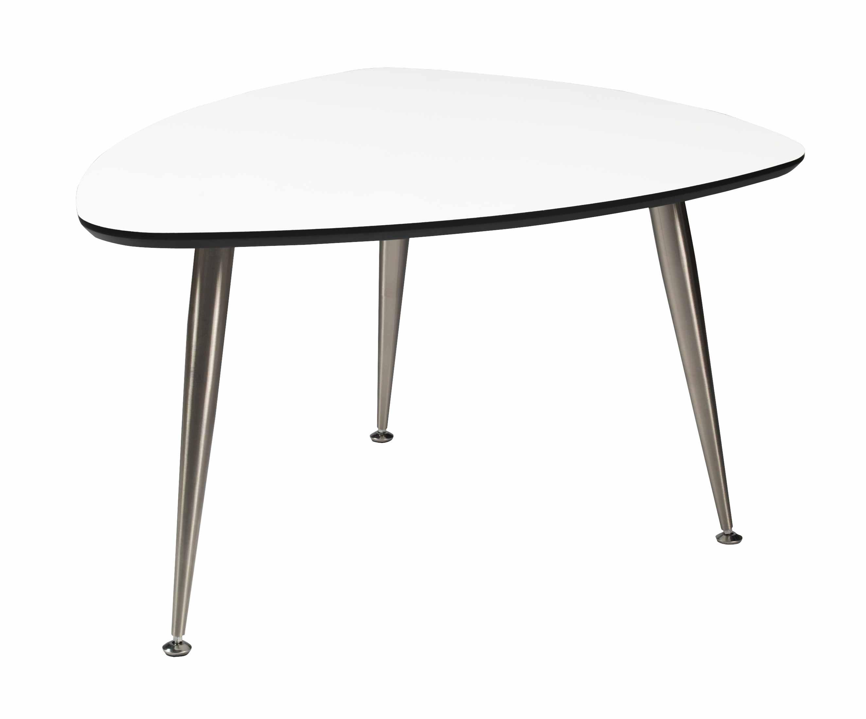 Strike sofabord - Hvidt træ, stål stel, trekantet