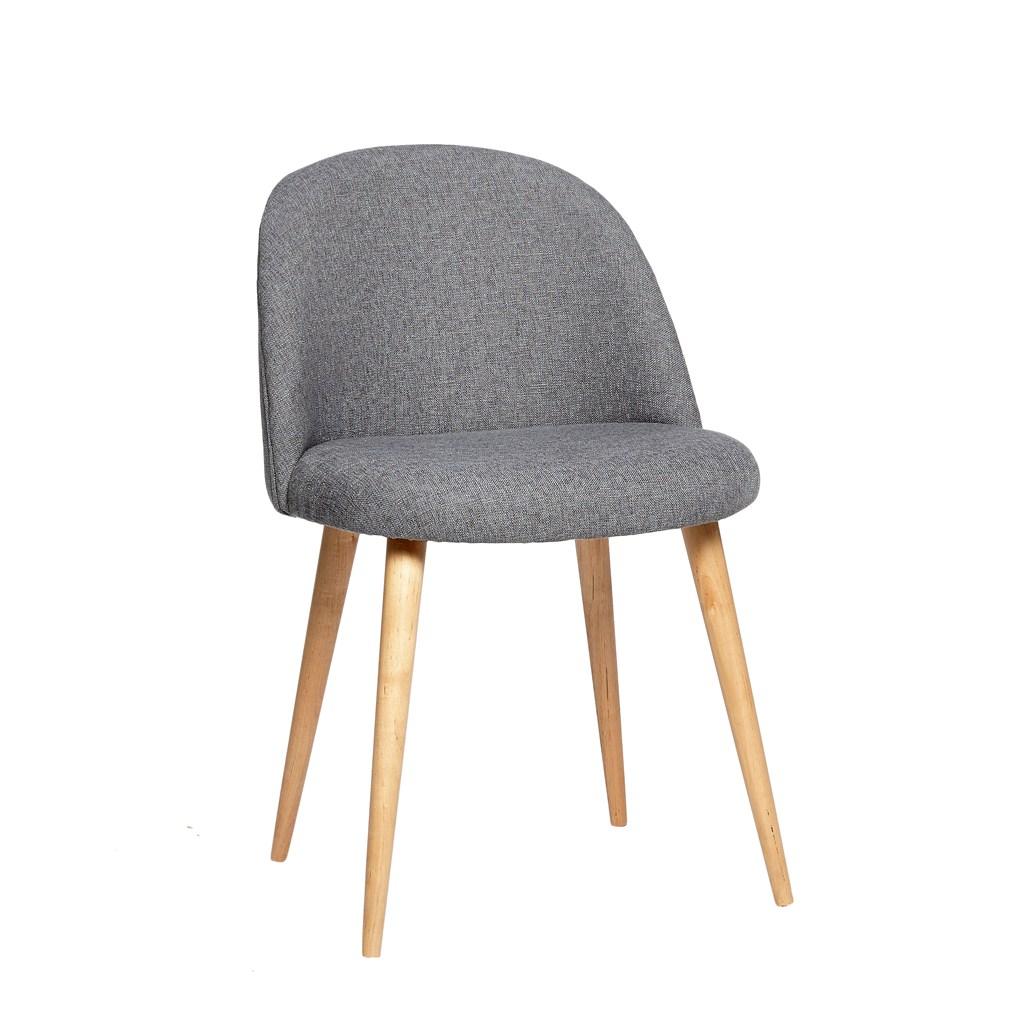 Billede af HÜBSCH Grå stol m/træben
