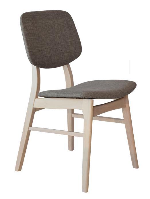 Rge malte spisebordsstol - grå stof, uden armlæn fra rge på boboonline.dk