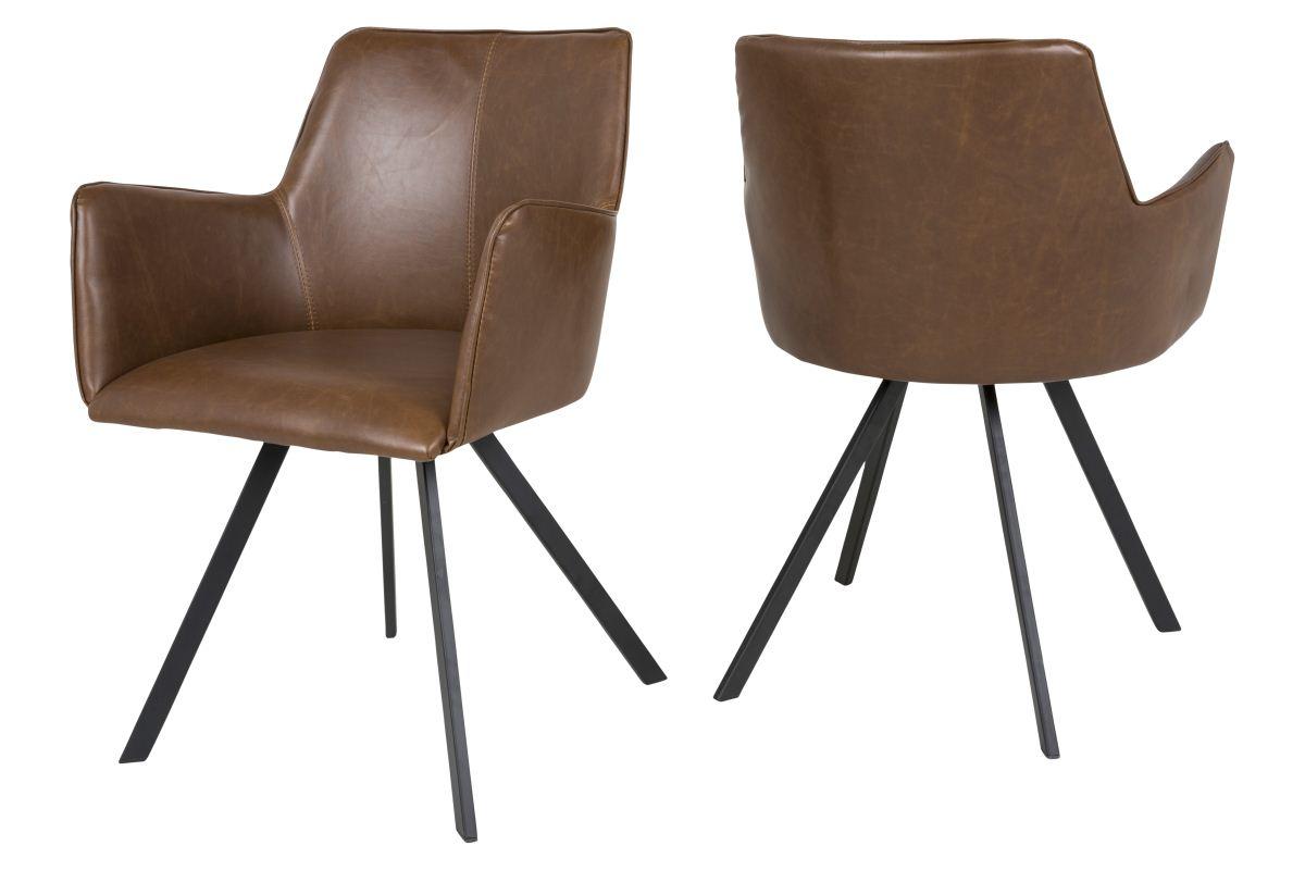 canett Canett amigo spisebordsstol m. armlæn - brun på boboonline.dk