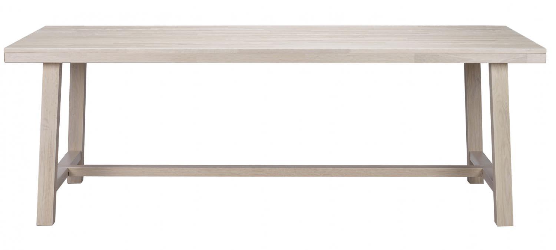 Image of   Brooklyn spisebord - hvidpigmenteret eg (220x95)