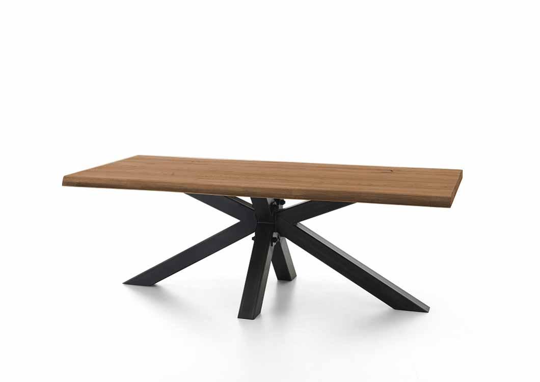 BODAHL Chicago plankebord - old bassano egetræ m. metalben 300 x 100 cm.