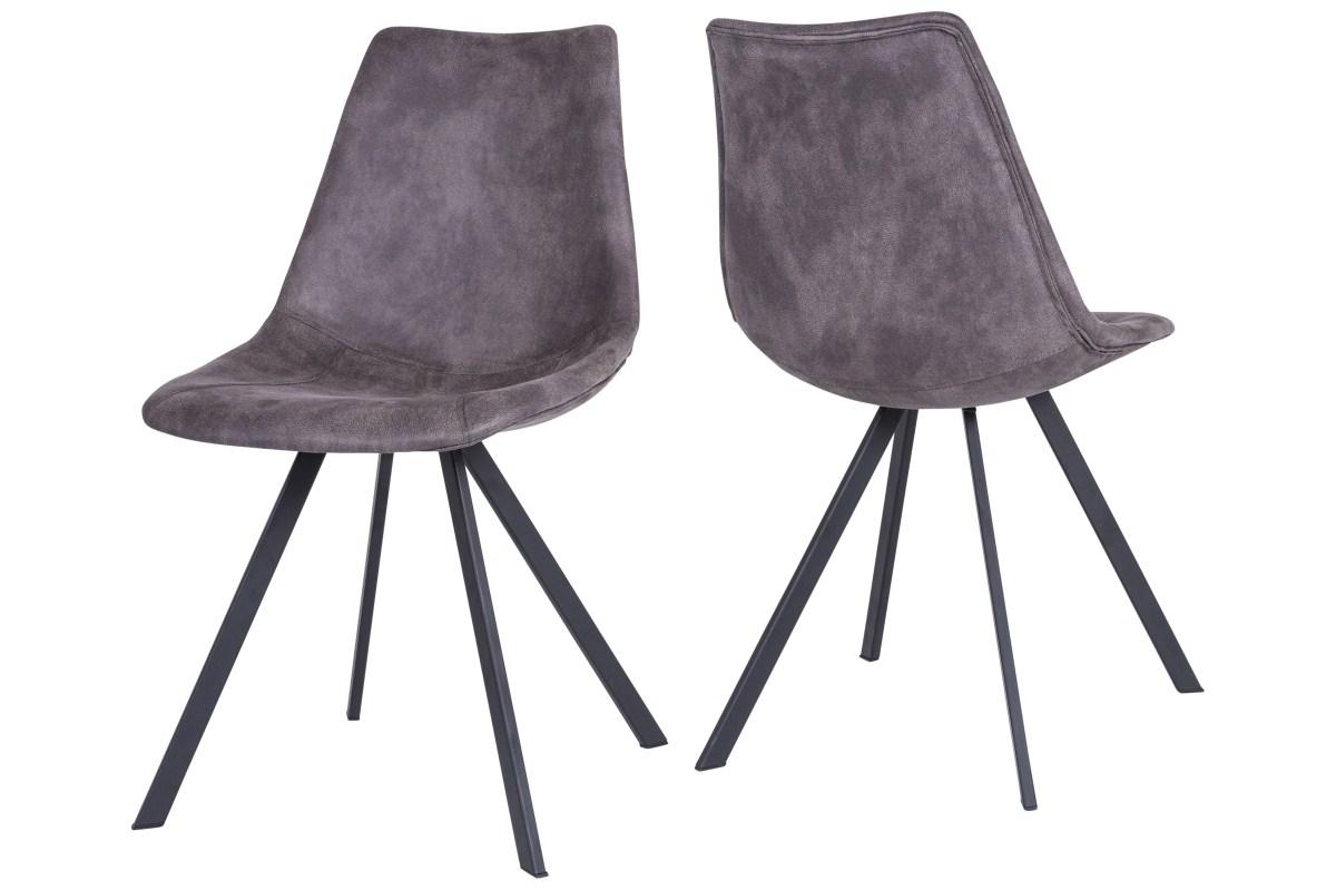 Canett zobel spisebordsstol - mørkegrå fra canett på boboonline.dk