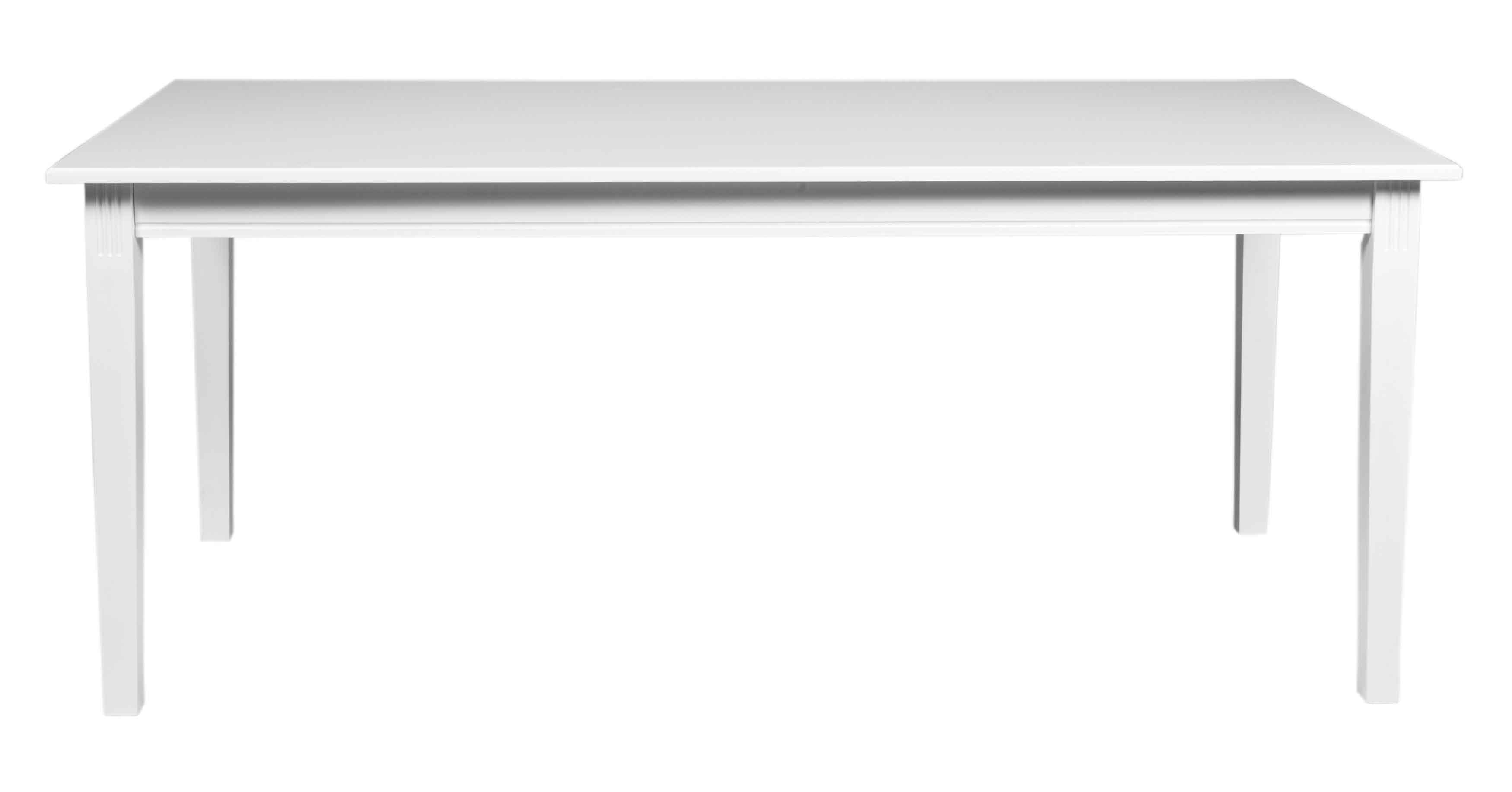 ROWICO Wittskär spisebord - hvidt træ, m. udtræk (180x90)
