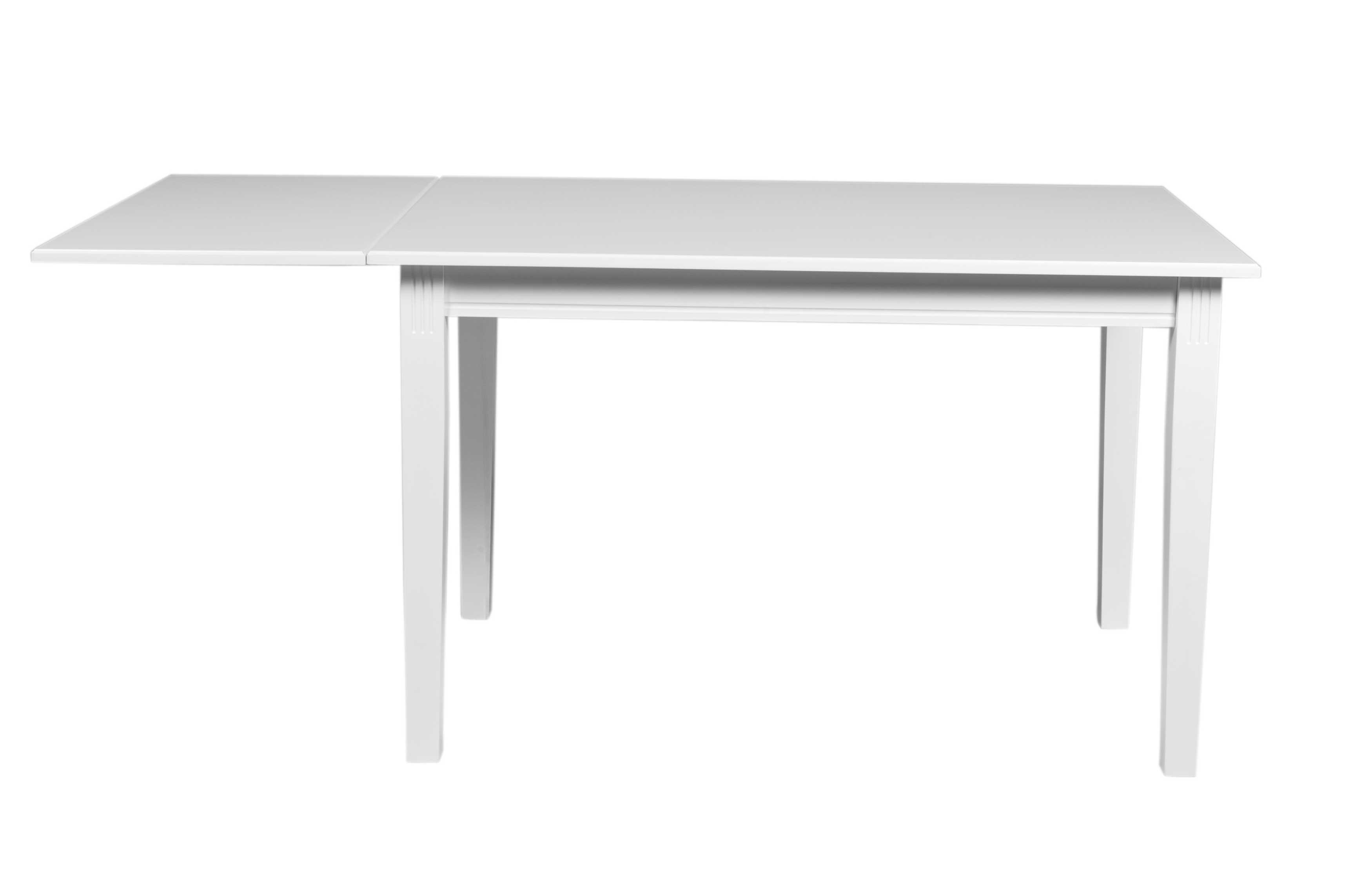 Wittskar klapbord - Hvidt træ, 120-165