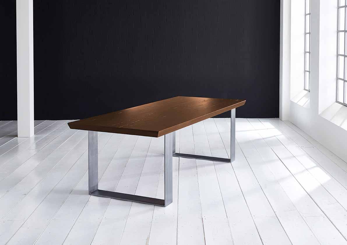 Concept 4 You Plankebord - eg, m. schweizerkant og Houston ben, m. udtræk (180-260x100-110) 6 cm 200 x 110 cm 06 = old bassano
