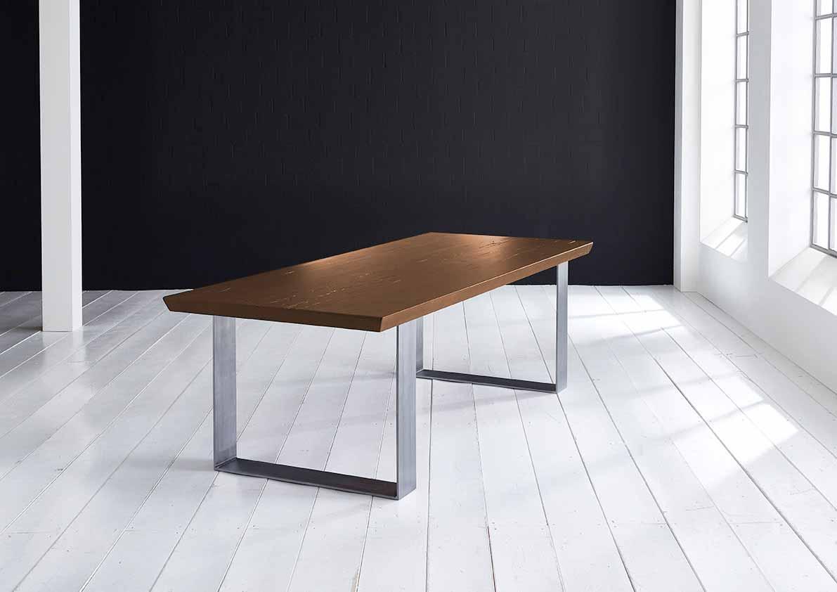 Concept 4 You Plankebord - eg, m. schweizerkant og Houston ben, m. udtræk (180-260x100-110) 6 cm 180 x 100 cm 01 = olie