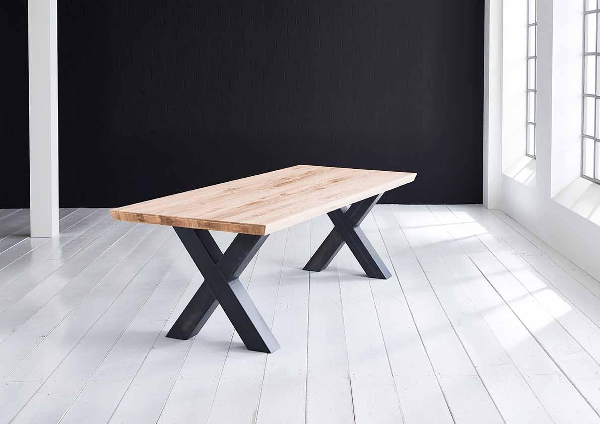 Concept 4 You Plankebord - Schweizerkant med Freja-ben, m. udtræk 6 cm 200 x 100 cm 01 = olie