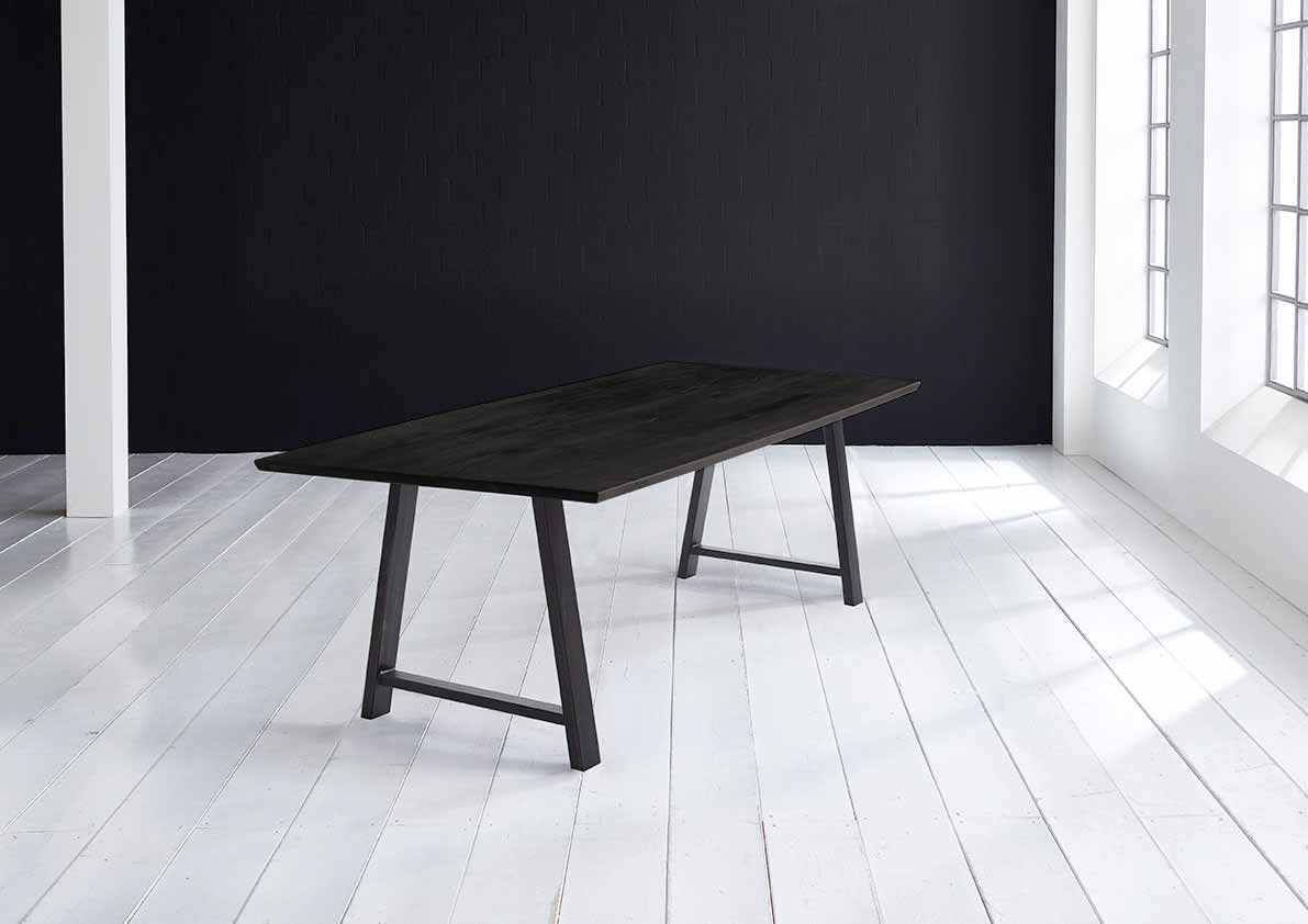 Concept 4 You Plankebord - Schweizerkant med Halo Ben, m. udtræk 3 cm 240 x 100 cm 07 = mocca black