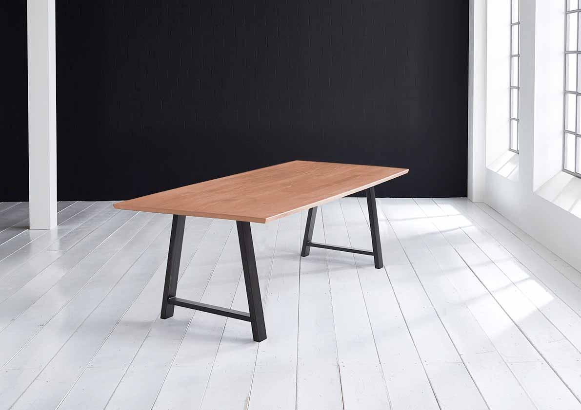 bodahl – Concept 4 you plankebord - eg, m. schweizerkant og halo ben, m. udtræk (180-260x100) 3 cm 220 x 100 cm 03 = white wash på boboonline.dk
