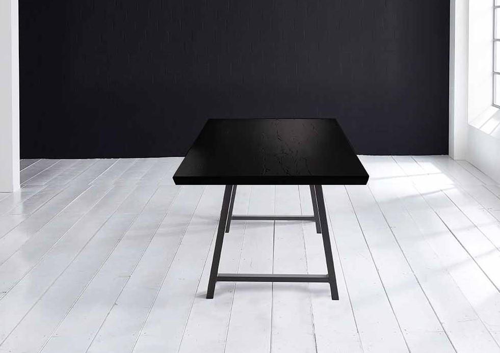 Concept 4 You Plankebord - Schweizerkant med Halo Ben, m. udtræk 6 cm 240 x 110 cm 07 = mocca black