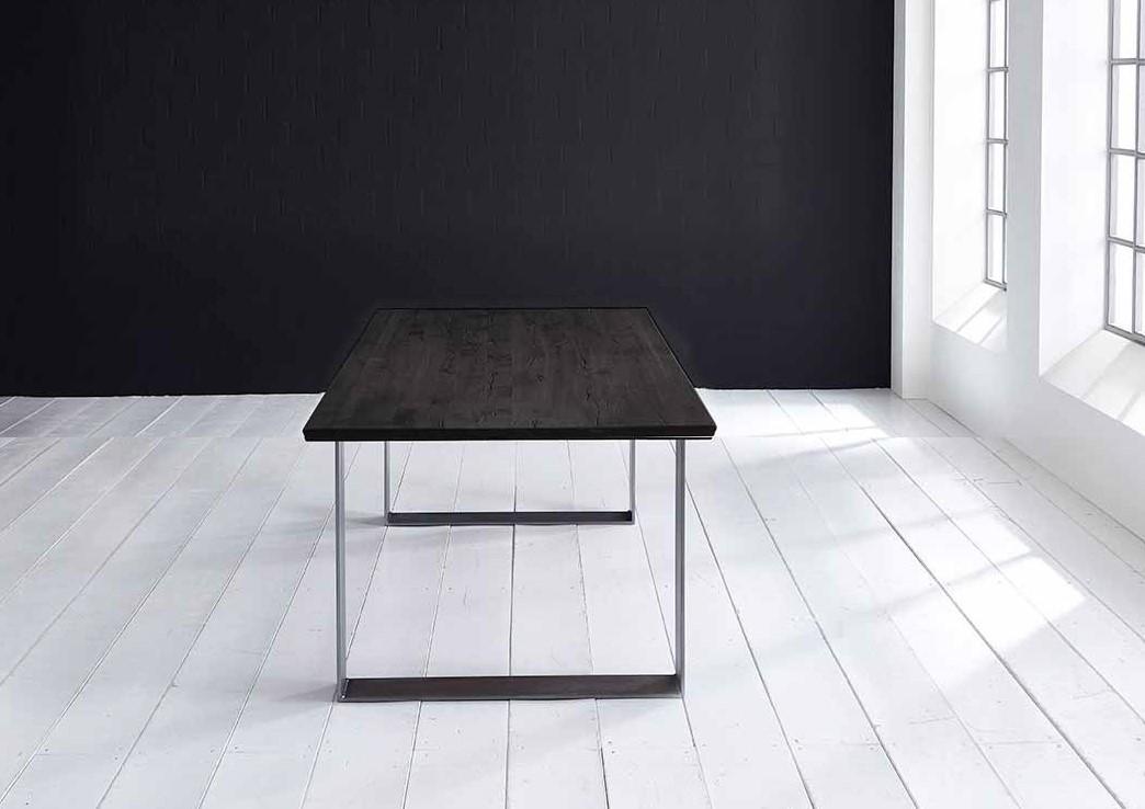 Concept 4 You Plankebord - eg, m. schweizerkant og Houston ben, m. udtræk (180-260x100-110) 3 cm 200 x 100 cm 07 = mocca black
