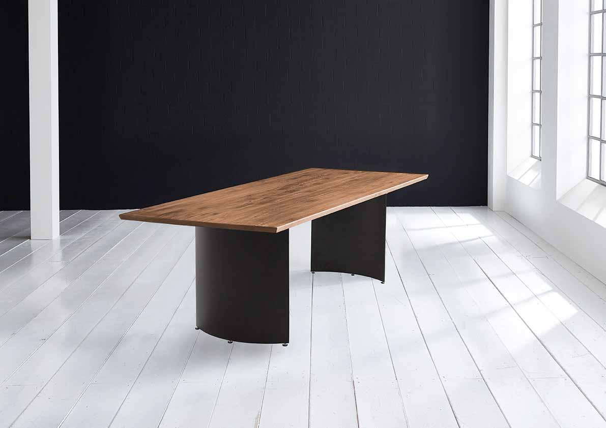 Concept 4 You plankebord - Schweizer kant med Arc ben 3 cm 220 x 100 cm 01 = olie