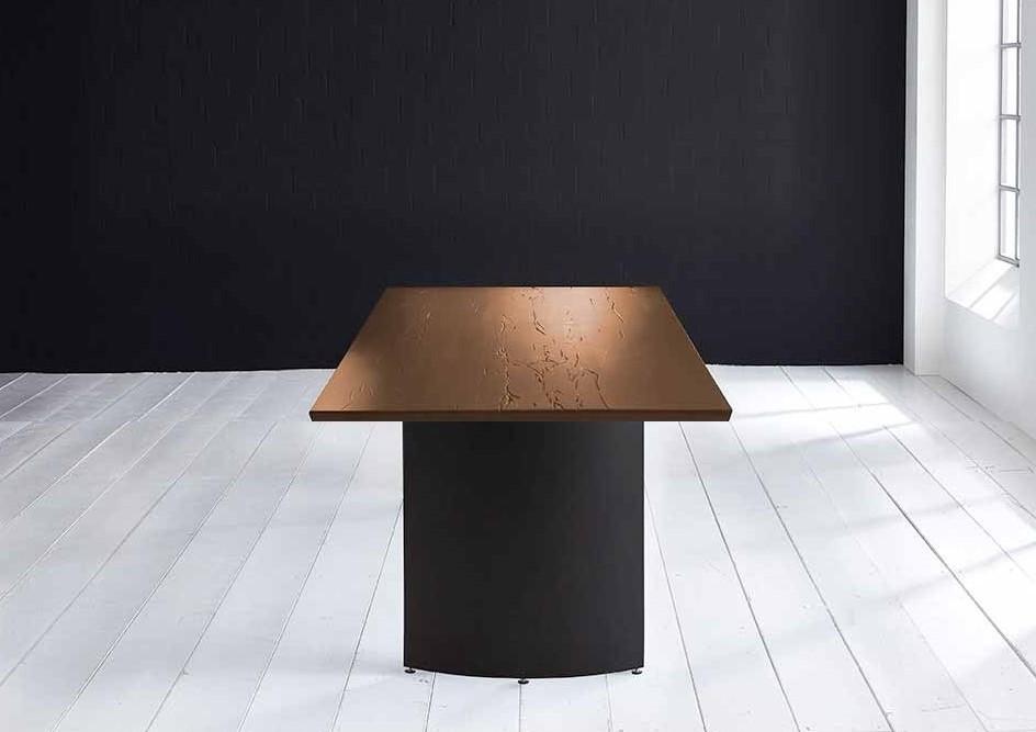Innovation Spisebord - Schweizer kant med Arc ben 6 cm 280 x 100 cm 01 = olie thumbnail