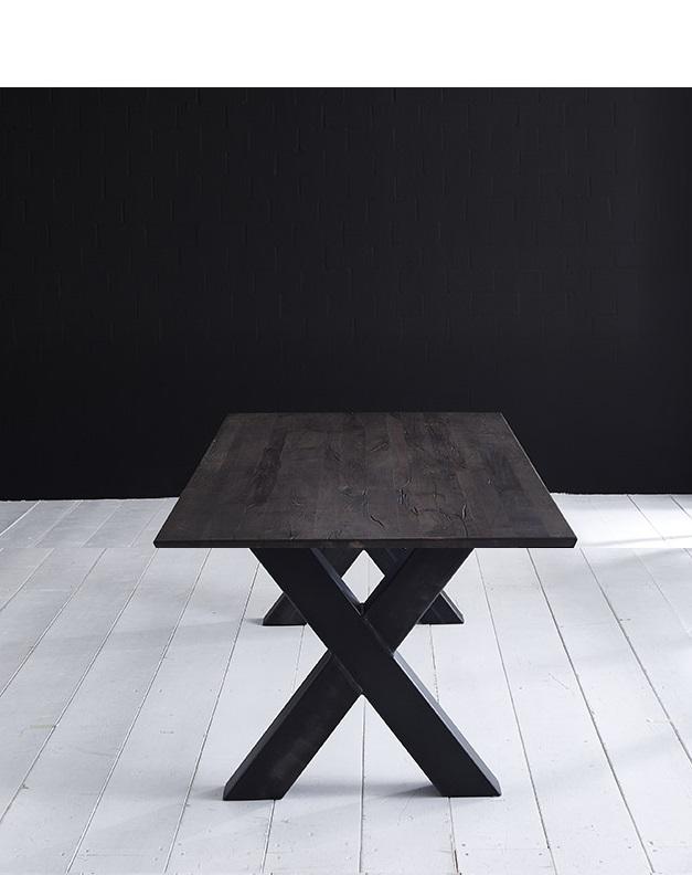 Concept 4 you plankebord - eg m. schweizerkant og freja-ben, m. udtræk (180-260x100-110) 6 cm 300 x 110 cm. 07 = mocca black fra bodahl på boboonline.dk