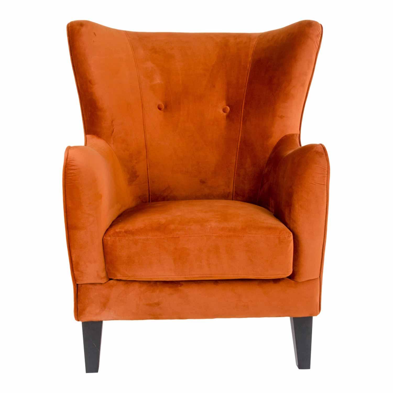 Kopi af house nordic campo lænestol - orange velour/træ, m. armlæn + fragt til bornholm=900 kr. fra house nordic fra boboonline.dk