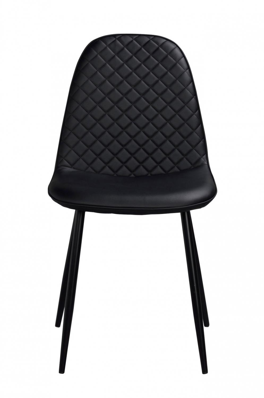 Image of   Aston spisebordsstol - sort PU læder