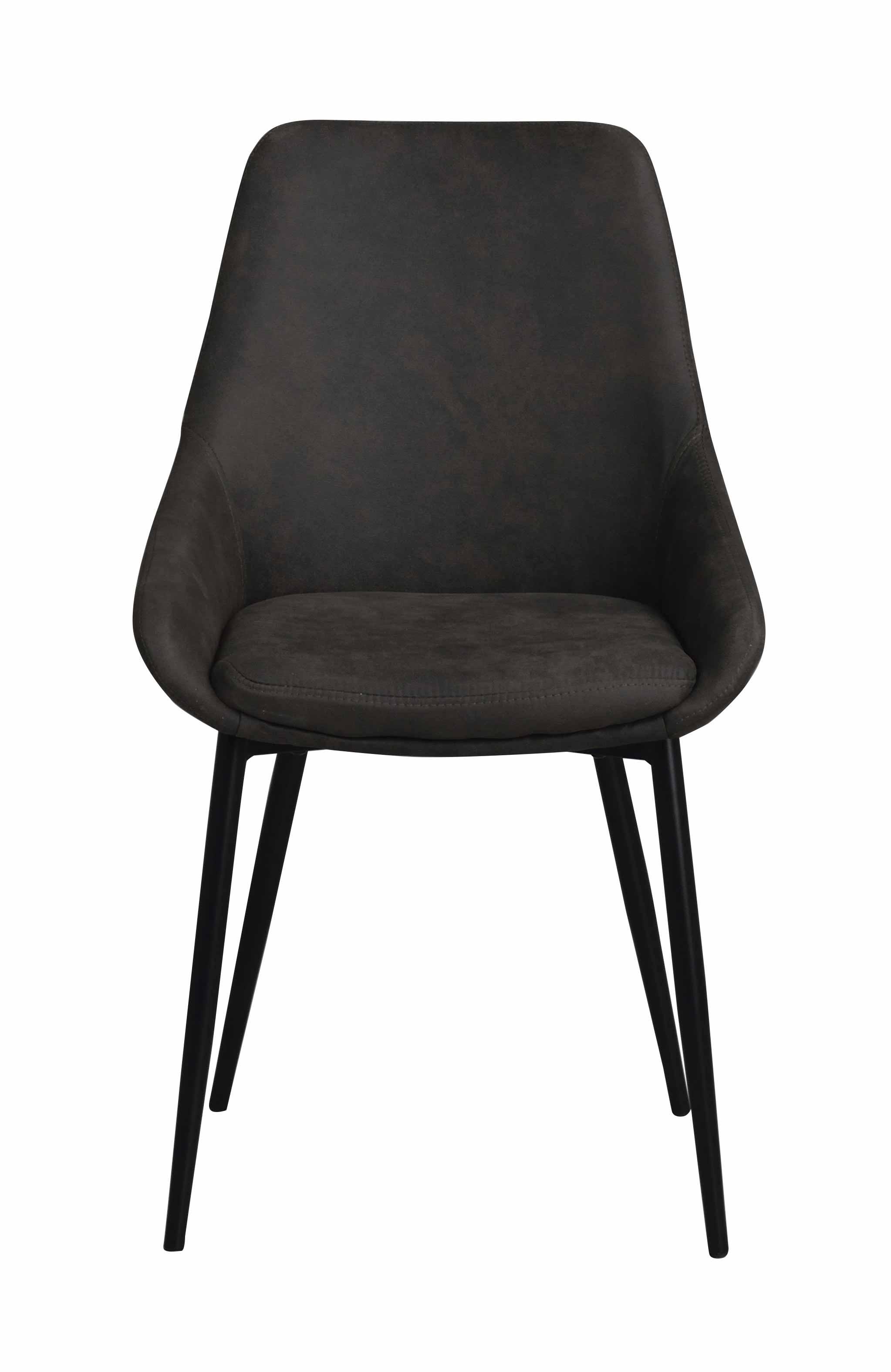 Sierra spisebordsstol - Mørkegråt stof, m. metal stel