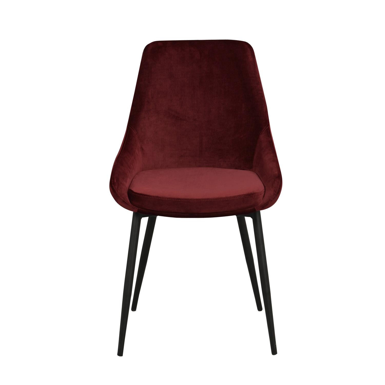 ROWICO Sierra spisebordsstol - rød polyester og sort metal