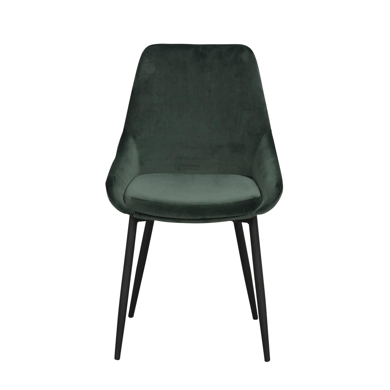 ROWICO Sierra spisebordsstol - grøn polyester og sort metal