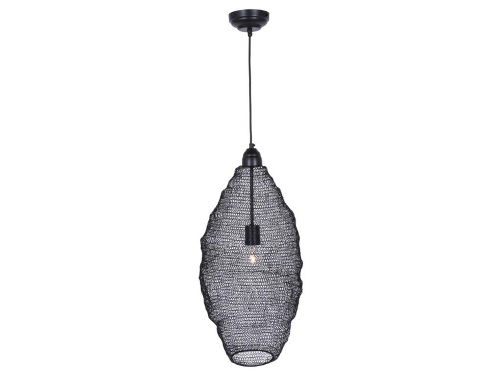 Canett oscar hængelampe - sort jern, håndlavet fra canett på boboonline.dk