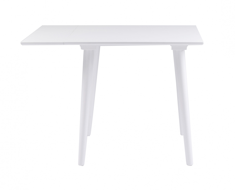 Lotta spisebord - hvid m. klap, kvadratisk (80x80+25)
