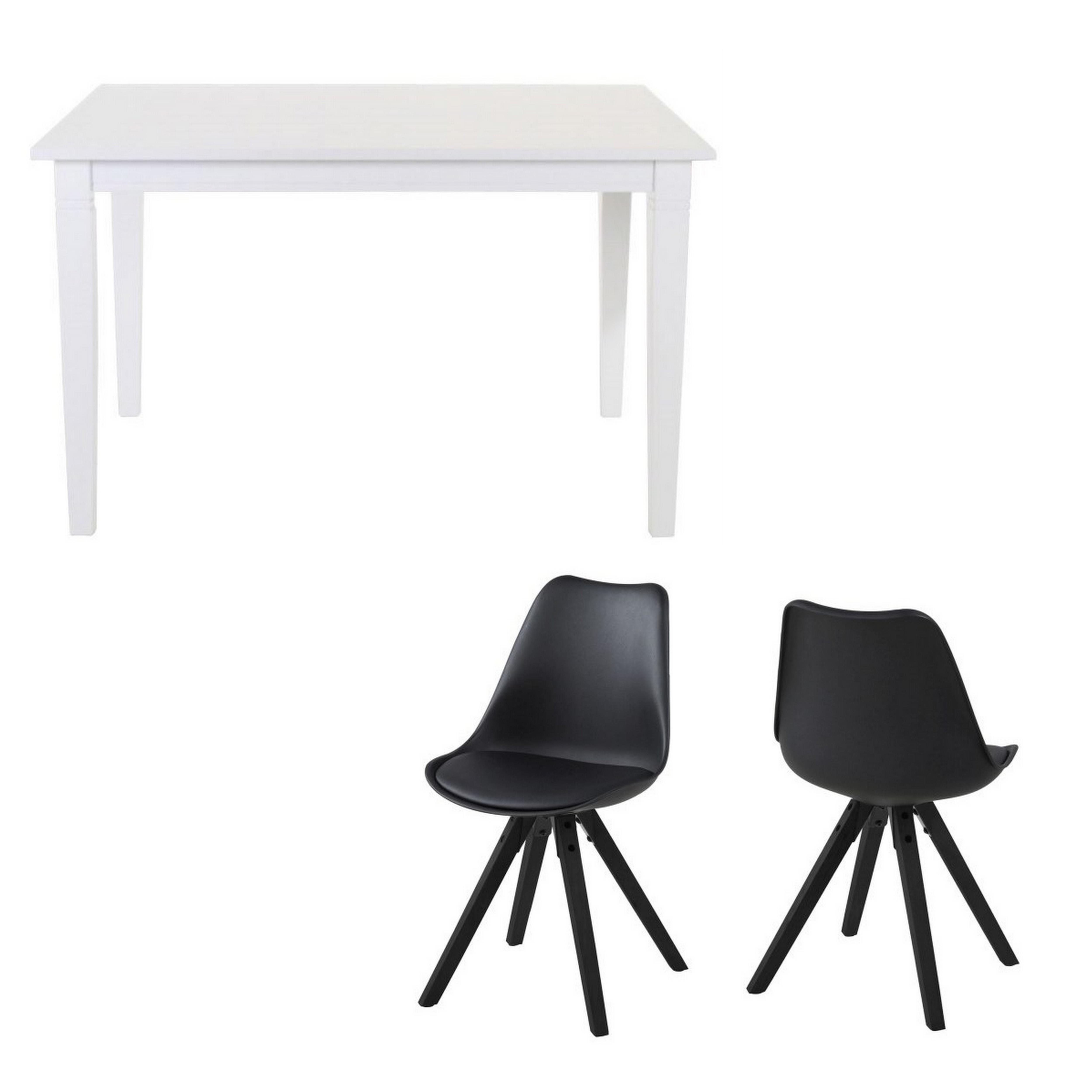Studenter option 2 - skrivebord + 2 spisebordsstole