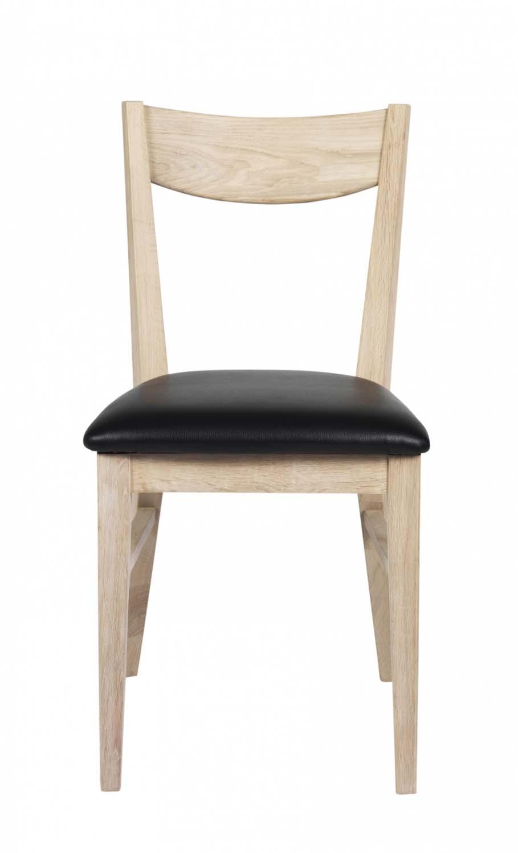 Rowico Dylan Spisebordsstol Hvidpigmenteret Egetræ, Sort