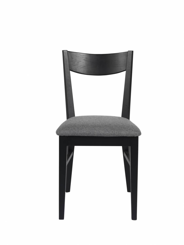 Dylan spisebordsstol - sort eg, grå stofhynde