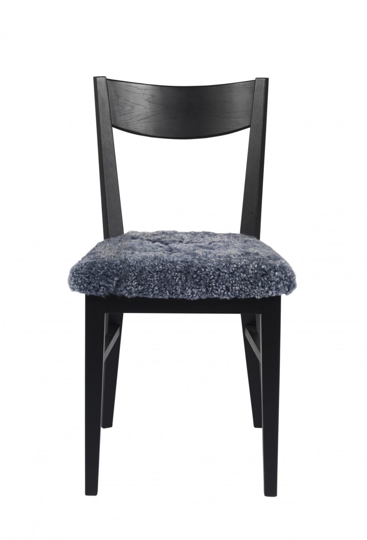 Dylan spisebordsstol - sort eg, fåreskindshynde