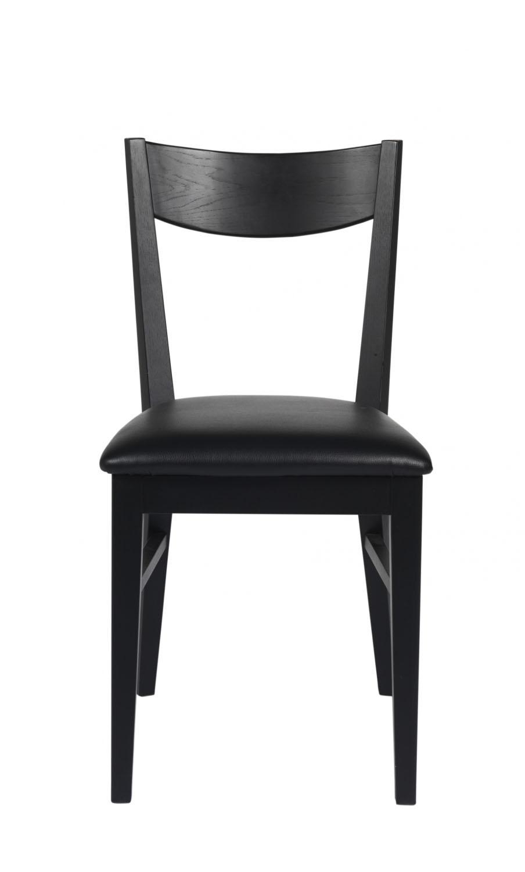 Dylan spisebordsstol - sort eg, sort PU læderhynde