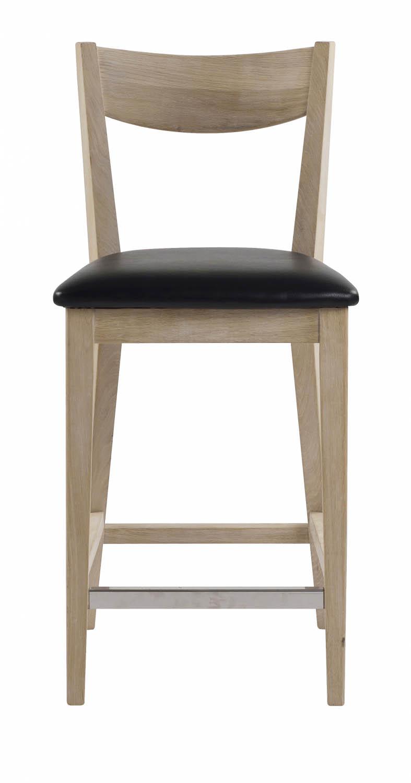 Billede af Dylan barstol - Hvidpigmenteret eg, læder PU hynde