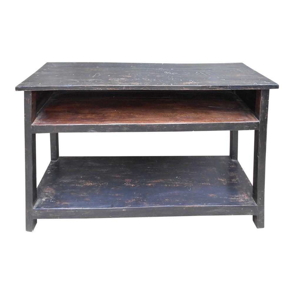 SJÄLSÖ NORDIC originalt konsolbord, m. 2 hylder - brun og sort træ (120x33)