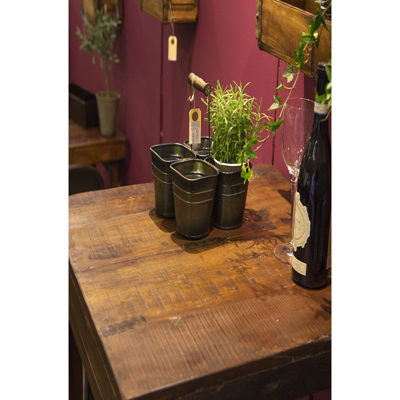 SJÄLSÖ NORDIC barbord brun træ, kvadratisk (70x70