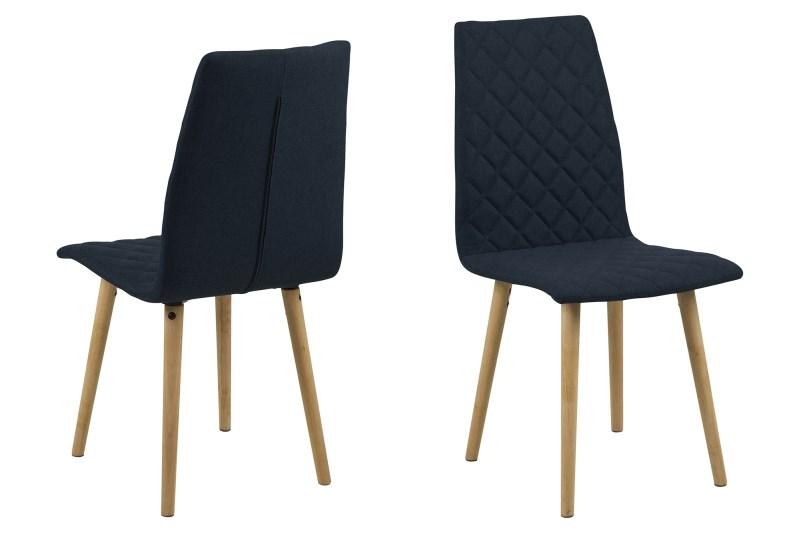 Billede af Abna mørkeblå spisebordsstol