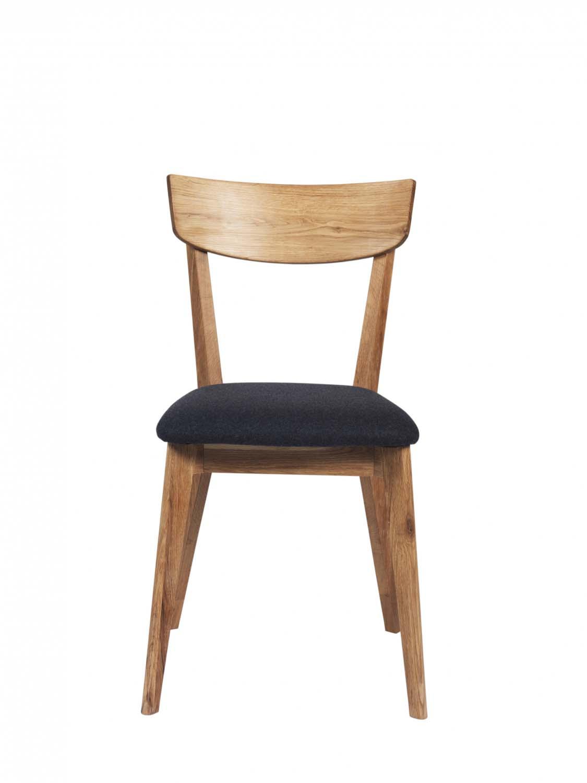 Kelly spisebordsstol - eg/mørkegråt stof