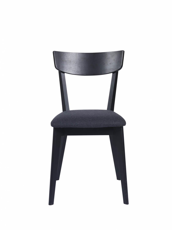 Kelly spisebordsstol - sort eg/mørkegråt stof