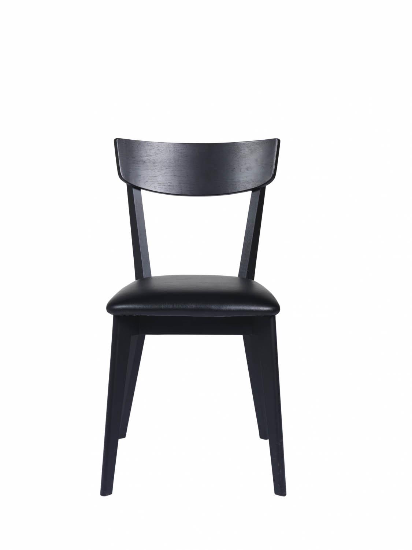 Kelly spisebordsstol - sort eg/sort kunstlæder