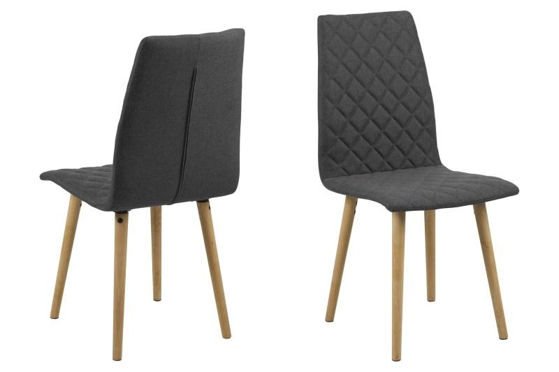 Billede af Abna grå spisebordsstol