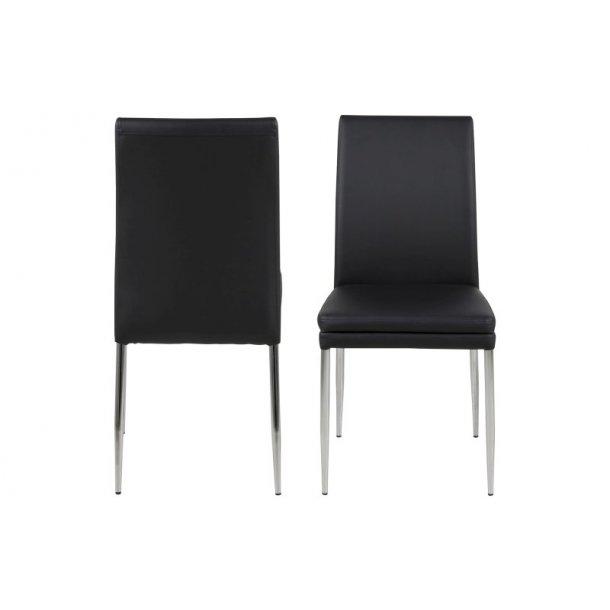 Jolene sort læder PU spisebordsstol