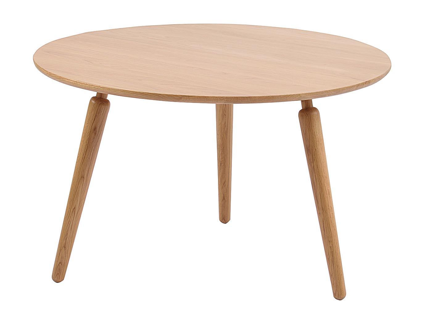 Image of   Cappuccino sofabord - massiv eg (Ø80)