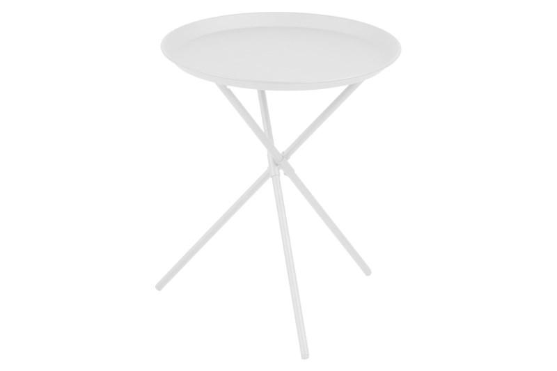 Image of   Clipston hjørnebord - hvid metal, rundt (Ø:38,5)
